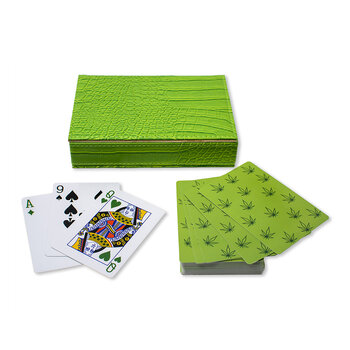 Playing Cards With Box - Leaves