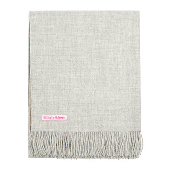 Alpaca Throw Natural - Light Grey