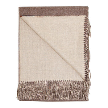 Baby Alpaca Throw - Cocoa & Oatmeal