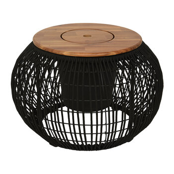 Outdoor Rope Weave Table - Black