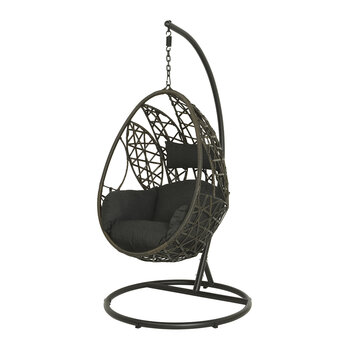 Outdoor Leaf Design Hanging Chair - Brown