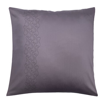 Mid Century Rhythm Pair Of Pillowcases - Grape Mauve