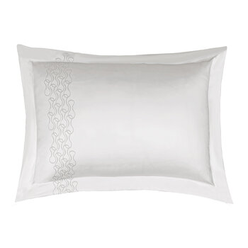 Mid Century Rhythm Pair Of Pillowcases - White
