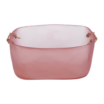 Exclusive Storage Basket with Leather Handles - Pink