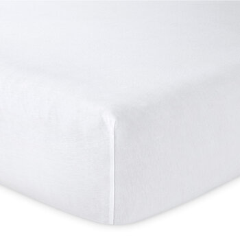 Soft Fitted Sheet - White