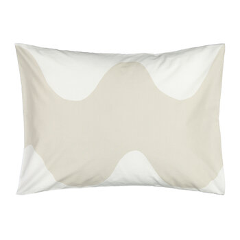 Lokki Pillowcase - White/Beige - 50x75cm