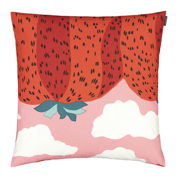 Mansikkavuoret Cushion Cover - Light Red/Red - 50x50cm