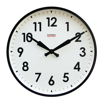 Factory Numbers Clock - Black