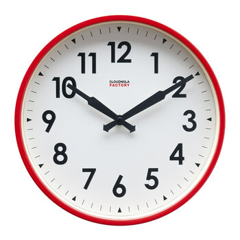 Factory Numbers Clock - Red