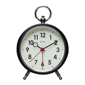 Factory Numbers Alarm Clock - Black