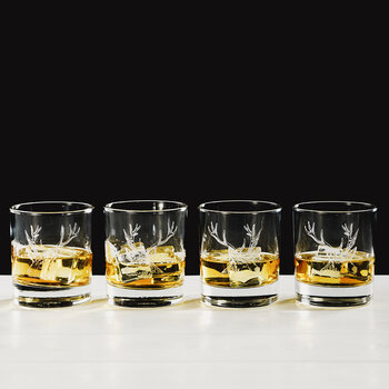Stag Engraved Tumblers - Set of 4