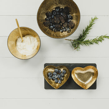 Gold Heart Serving Set