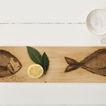 Oak Fish Serving Platter - Medium