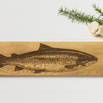 Oak Salmon Serving Platter - Large