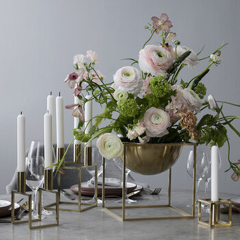 Line Candle Holder - Brass