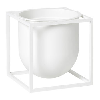 Kubus Flowerpot - Medium - White