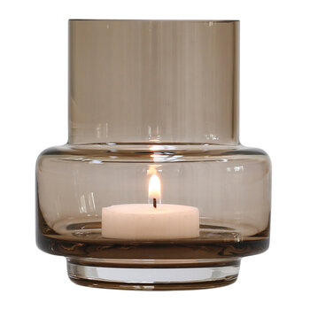 No 25 Hurricane Tealight Holder - Sepia
