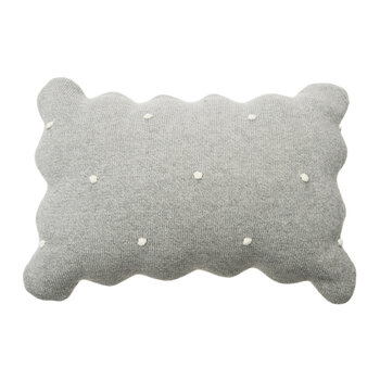 Square Biscuit Knitted Pillow - Gray - 25x35cm