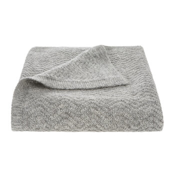 Wave Knitted Baby Blanket - Grey
