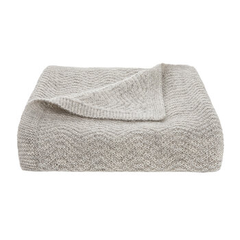 Wave Knitted Throw - Oatmeal