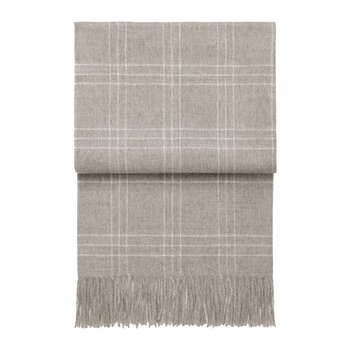 Superior Plaid Throw - Beige/Off White