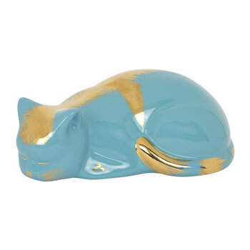 Cat Ornament - Turquoise/Gold