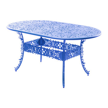 Industry Collection Aluminium Oval Table - Sky Blue