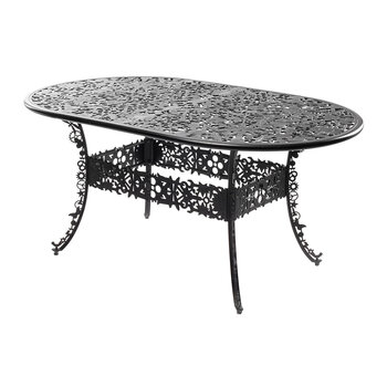 Industry Collection Aluminium Oval Table - Black