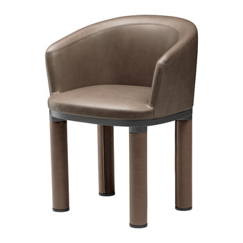 Bold Armchair - Natural Leather - Brown