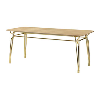 Botany Dining Table - Pink/Gold
