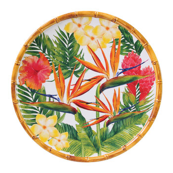 Exotic Flowers Plate