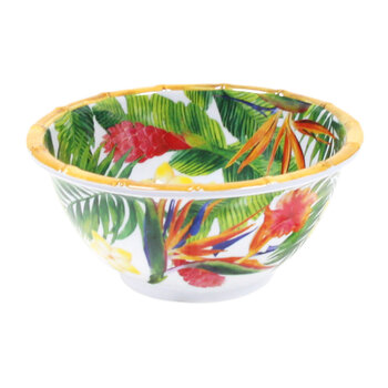 Exotic Flowers Pasta Bowl