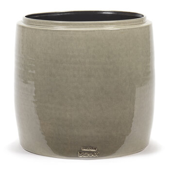 Glazed Shades Flower Pot - Grey