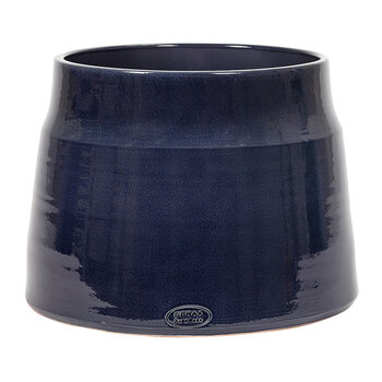 Glazed Shades Flower Pot - Dark Blue