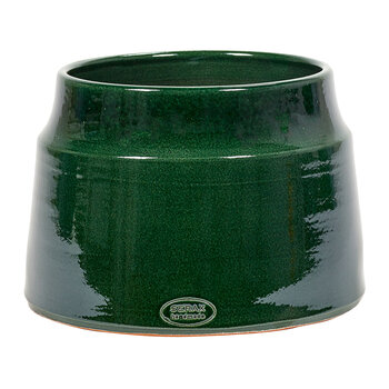 Glazed Shades Flower Pot - Dark Green