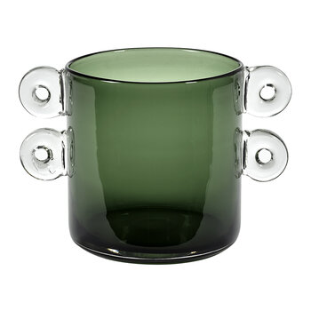 Wind & Fire Vase - Dark Green With Two Handles - Small