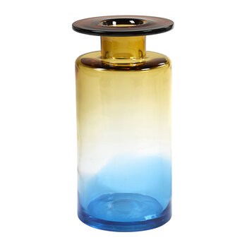 Wind & Fire Jar Vase - Blue/Amber