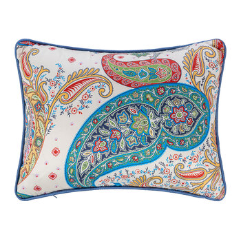 Goa Pernem Pillow With Piping - Ivory