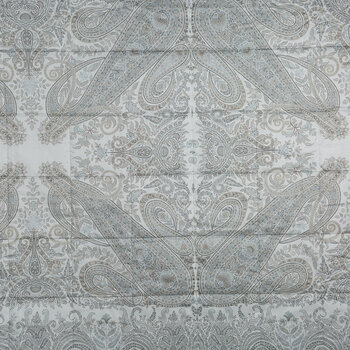 Harrison Montclair Panel Quilted Bedcover - Gray - 270x270cm