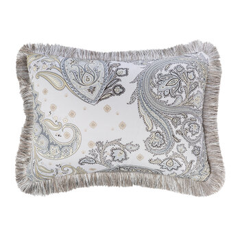 Harrison Newark Pillow With Passementerie - Gray