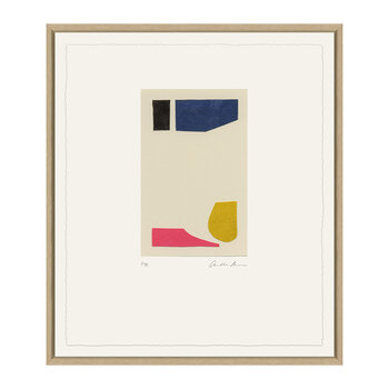 Charlotte Morgan Collages I - 48x58cm - Pink/Blue/Yellow