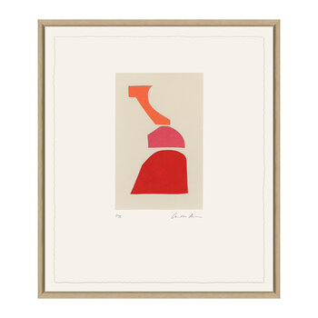 Charlotte Morgan Collages I - 48x58cm - Red/Pink/Orange