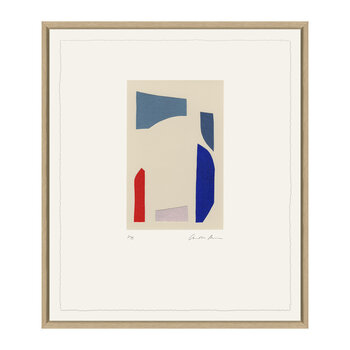 Charlotte Morgan Collages I - 48x58cm - Red/Blue