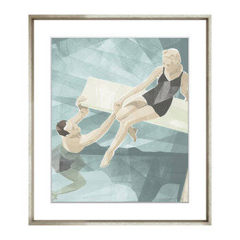 Alice Adams Beach Scenes - Diving Board - 48x58cm
