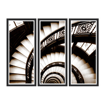 Spiral Staircase Sepia Triptych - Set Of 3 - 170x124cm