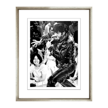 Elvis Presents Framed Print - 48x58cm
