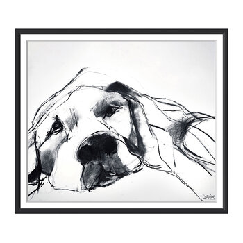 Valerie Davide Dogs - Resting Dog - 48x58cm