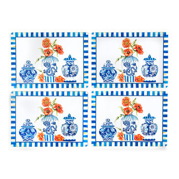Chinoiserie Placemats - Set of 4