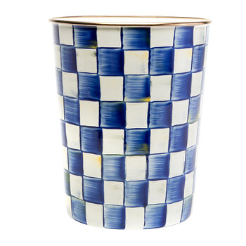 Royal Check Enamel Waste Bin