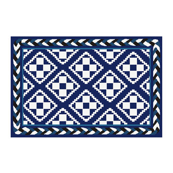Courtyard Rug - Royal - 61x91cm